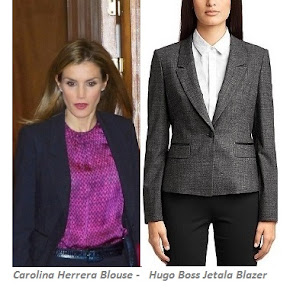 CAROLINA HERRERA Blouse + HUGO BOSS Suit