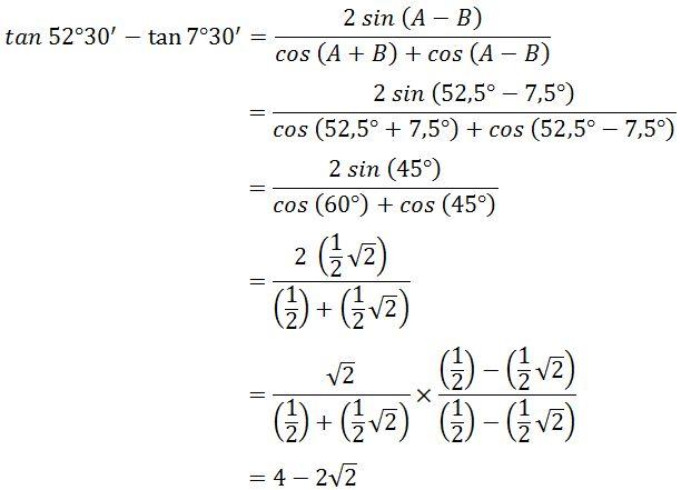 Contoh Soal Trigonometri Kelas 11