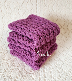 Purple Handmade Dish Cloths