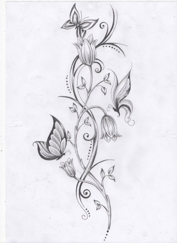 101 Charming Floral Tattoo Ideas