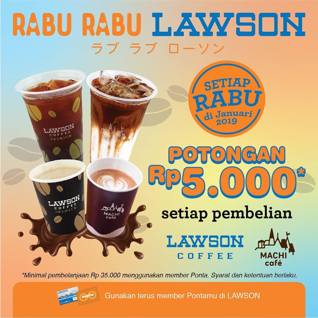#Lawson - #Promo Tiap Rabu Beli Kopi Dapat Potongan 5K (s.d 31 Jan 2019)