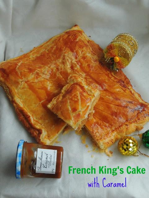 French King's Cake,Galette des rois au Caramel Praliné