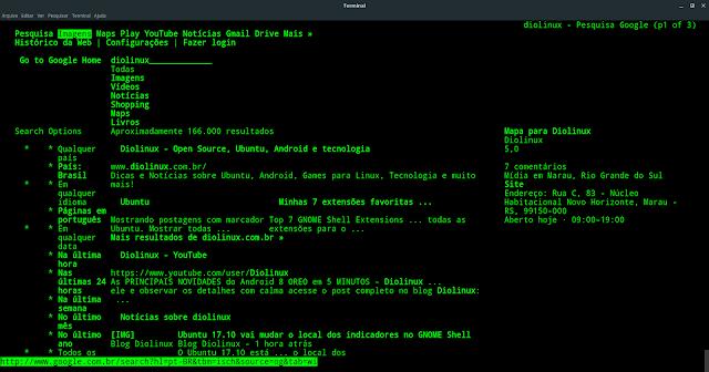 Pesquisando pelo terminal Linux