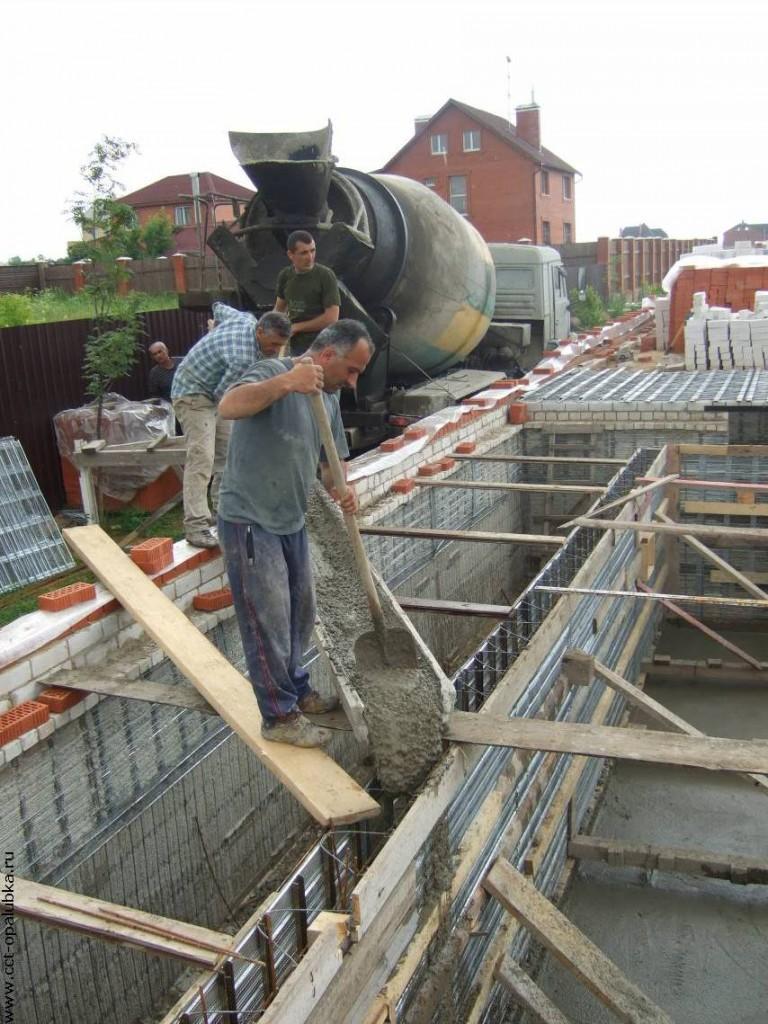 заливка бетона расценки