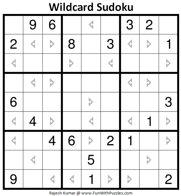 Wildcard Sudoku Puzzle (Daily Sudoku League #221)