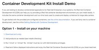 red hat container development kit