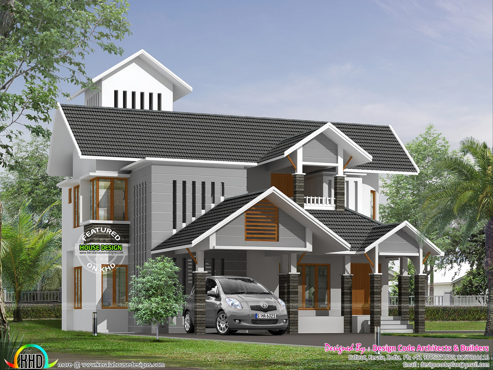 4 Bedroom Attached 223 Sq M Home Kerala Home Design And