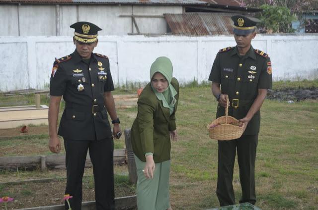 Peringati HUT ke-14, Yonif 755 Kostrad Ziarah ke Taman Makam Pahlawan Merauke