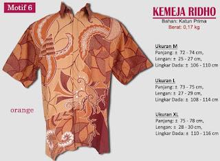 Grosir kemeja batik pria murah dan berkualitas (batik pekalongan)- ridho motif 6