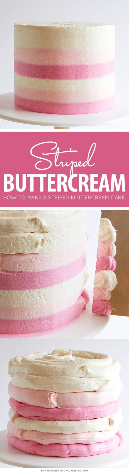 STRIPED BUTTERCREAM CAKE