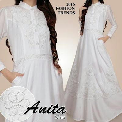 Jual Maxi Dress Maxi Anita White - 12503