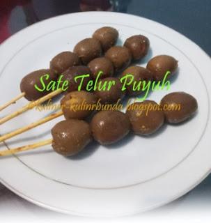 Resep Sate Telur Puyuh Ala Angkringan Jogja