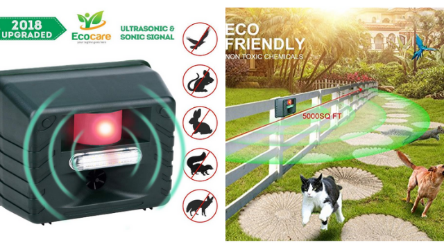 YOYO GARDEN Animal Repeller Battery Eco-Friendly Ultrasonic Expulsion Device Mole Snake Mouse Expeller Pest Reject Control by