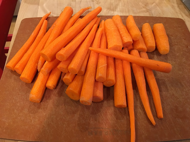 meatless monday carrot soup peeled cutting board
