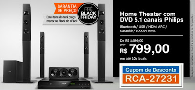 Pré Black Friday Home Theater Philips