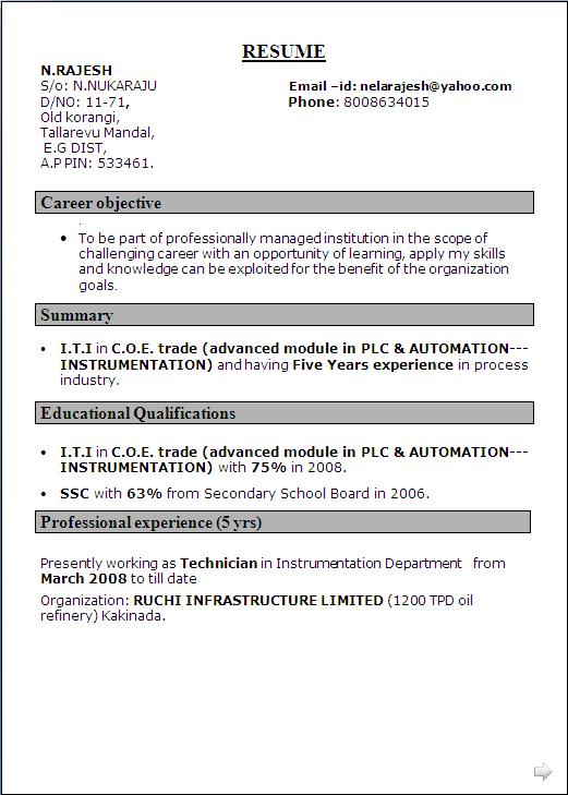 Resume Resume Sample For Freshers Instrumentation Engineer good resume example for instrumentation engineering frizzigame engineer cover letter