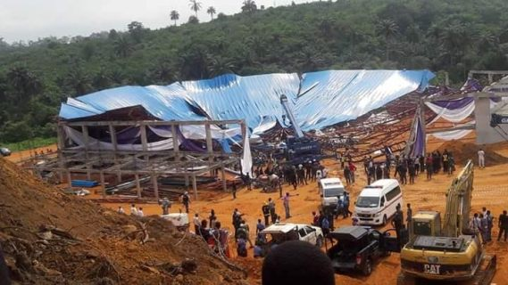 Akwa Ibom state governor narrowly escapes death as church building collapses in Akwa Ibom killing over 50