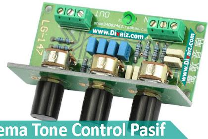 Skema & Cara Membuat Tone Control Pasif Tanpa Transistor