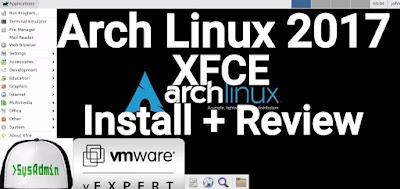 Arch Linux 2017 XFCE
