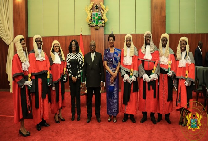 """""""Demonstrate Honesty, Integrity, Sound Knowledge Of The Law"""" – President Akufo-Addo To New Judges."""