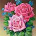 Советская открытка с розами  №2