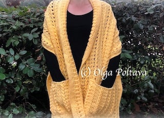 Pocket Shawl Crochet Pattern