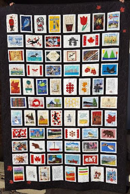 Common Thread Quilt Guild Canada 150 Postcard Quilt