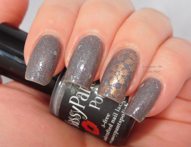 Sassy Pants Polish Not Even A Mouse + Lina Nail Art Supplies 4 Seasons-Winter 01 + Hit The Bottle Polish Champagne Shifter