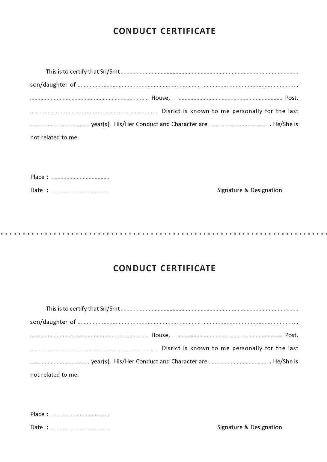 Conduct certificate format pdf kerala images certificate design conduct certificate format pdf kerala image collections conduct certificate format pdf kerala gallery certificate design conduct yadclub Image collections