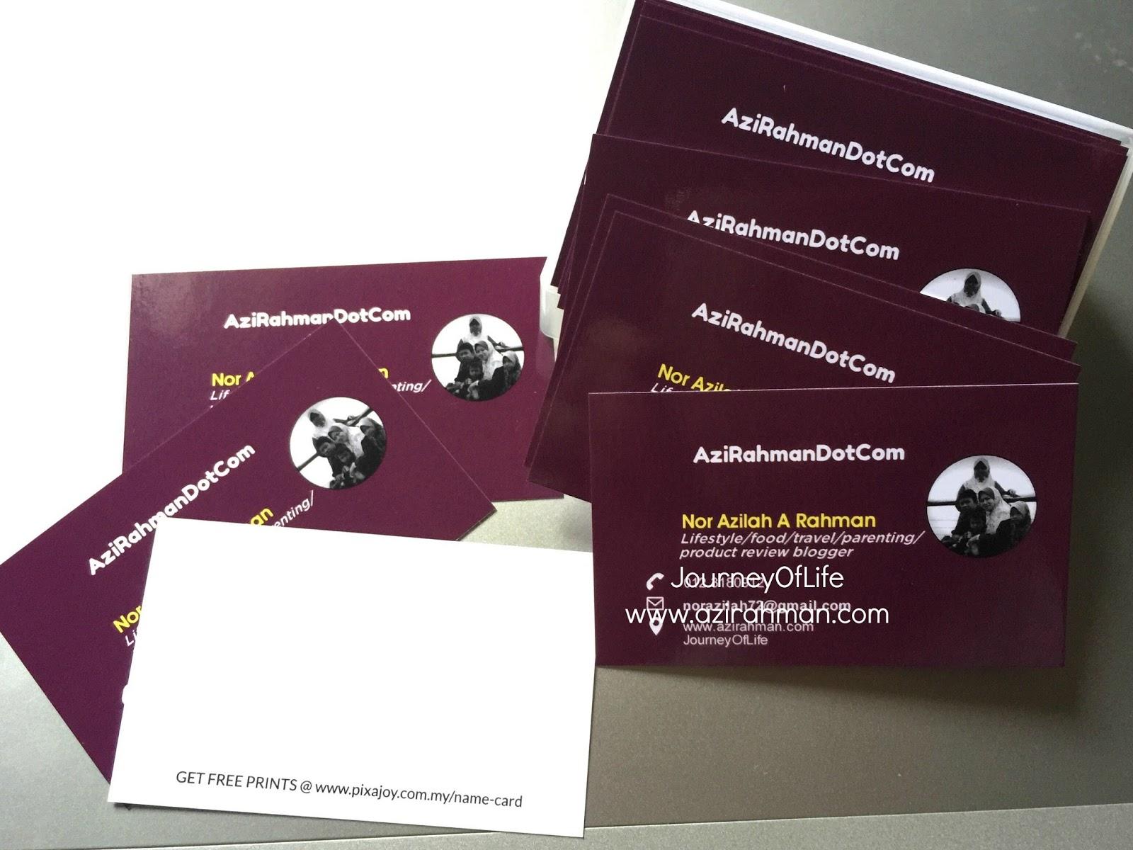 name card , pixajoy , media influencer , blogger , produk review