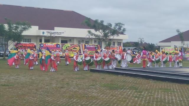 Drum Band SD Muhammadiyah 22 Srijabo Meriahkan HKN