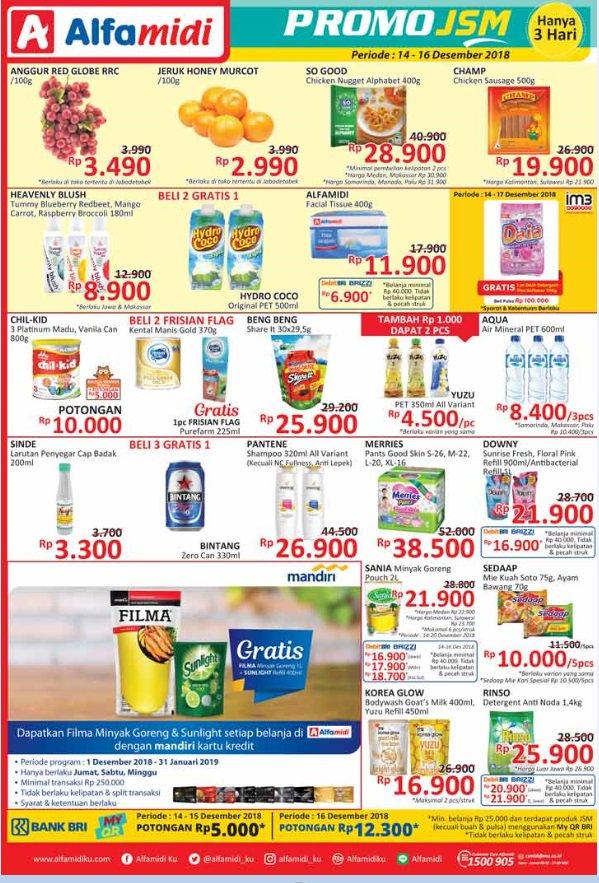 Alfamidi - Promo Katalog JSM Periode 14 - 16 Desember 2018