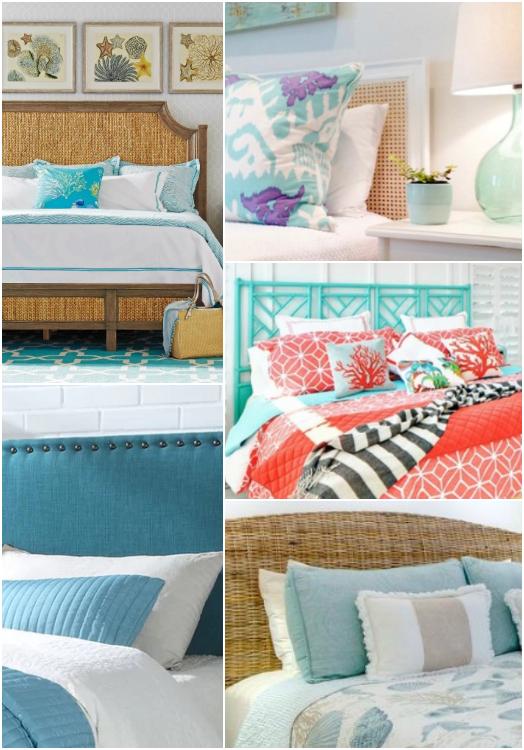 Bed Headboards Coastal Living Style Bedroom Designs
