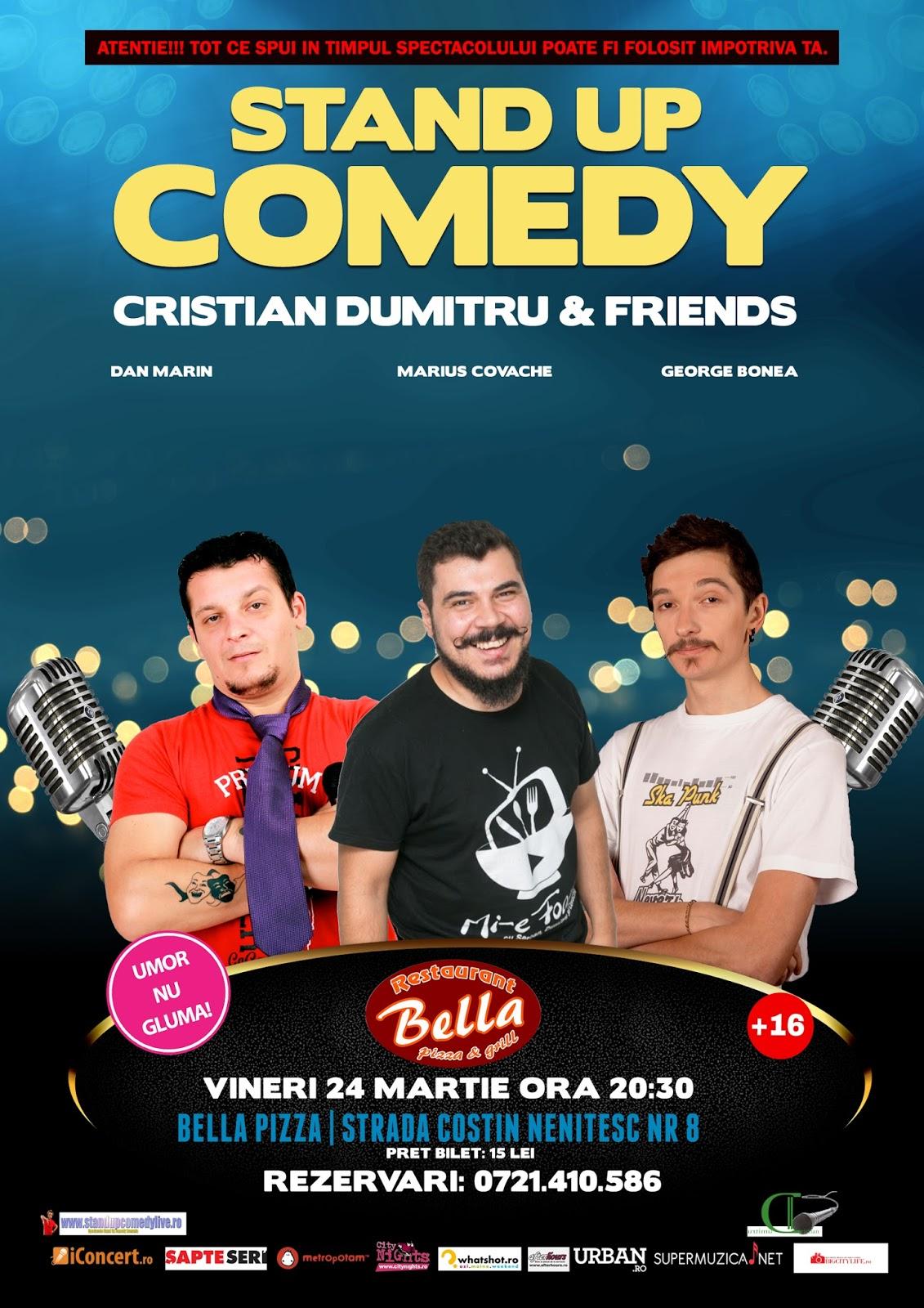 Stand-Up Comedy Bucuresti Vineri 24 Martie | Bella Pizza |