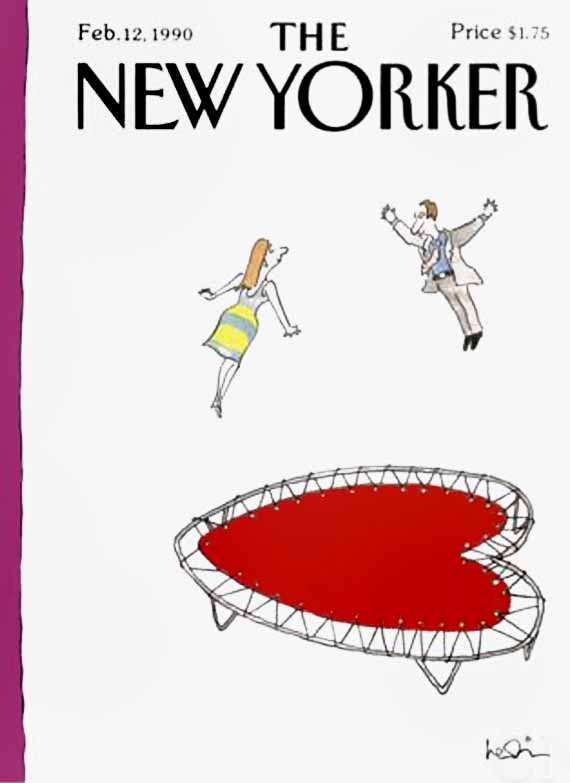 valentine's day, magazine covers, the new yorker, arnie levin illustration
