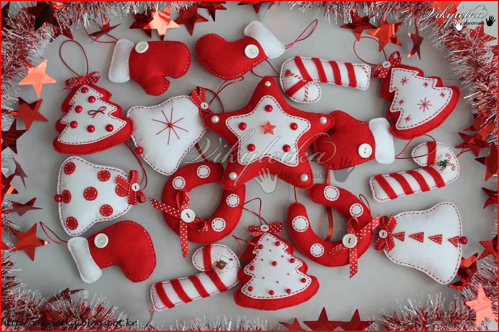 Я свяжу тебе жизнь...: Новогодние игрушки из фетра
