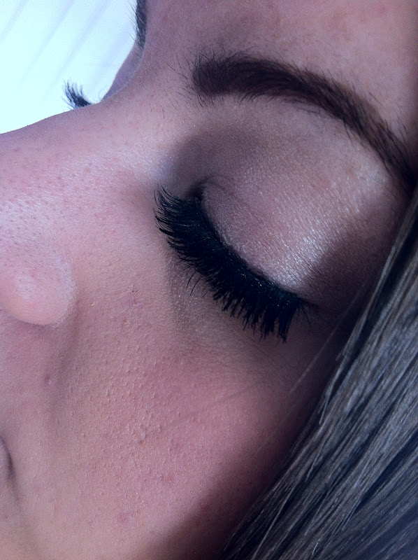 51a7cb4d317 My top tip for false lashes is to always apply a line of black eyeliner  along your lash line, it really breaks up the band of the false lashes and  makes ...