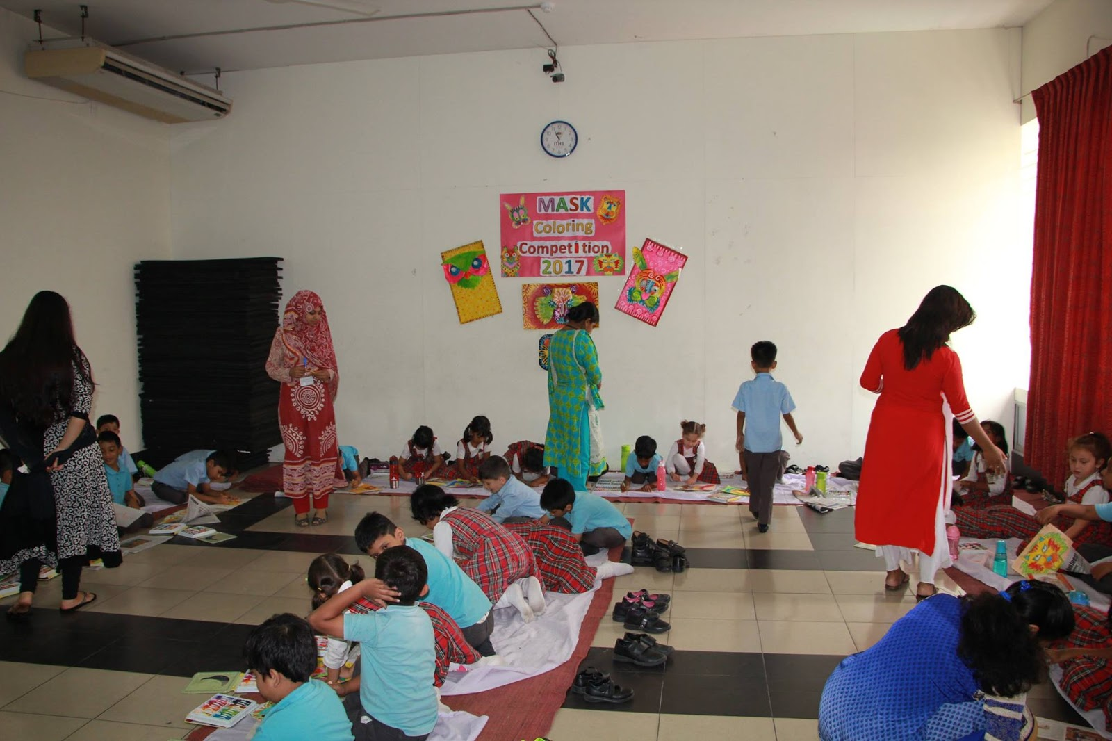 Iths uttara preschool and junior section iths has arranged a mask through mask coloring students got to know various symbols that represent the cultural roots biocorpaavc