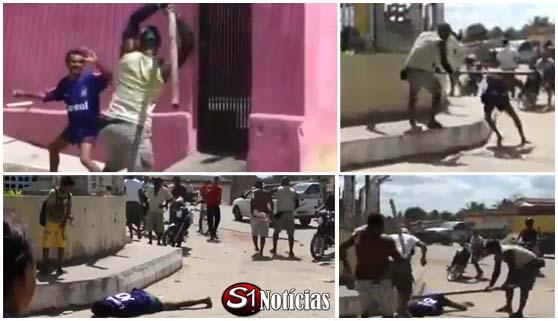 Homem armado com faca é morto a pauladas durante briga  em Goiana  - PE