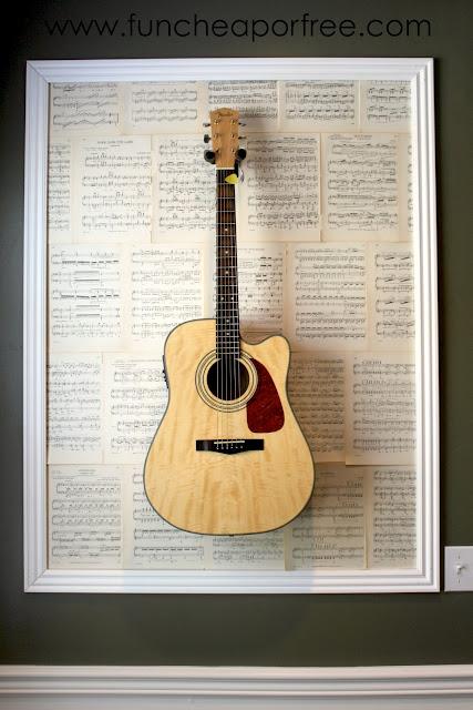 diy framed guitars fun cheap or free. Black Bedroom Furniture Sets. Home Design Ideas