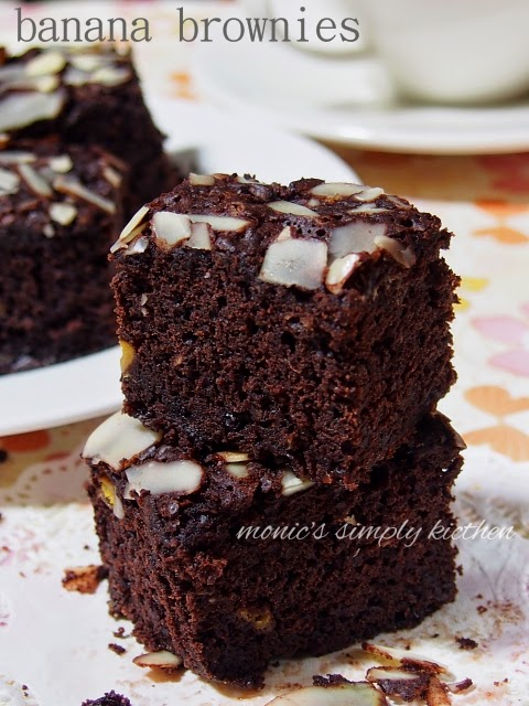 Brownies Pisang Versi Panggang Monics Simply Kitchen