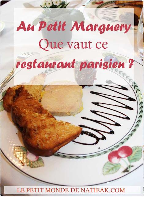 impression sur le restaurant  Au Petit Marguery