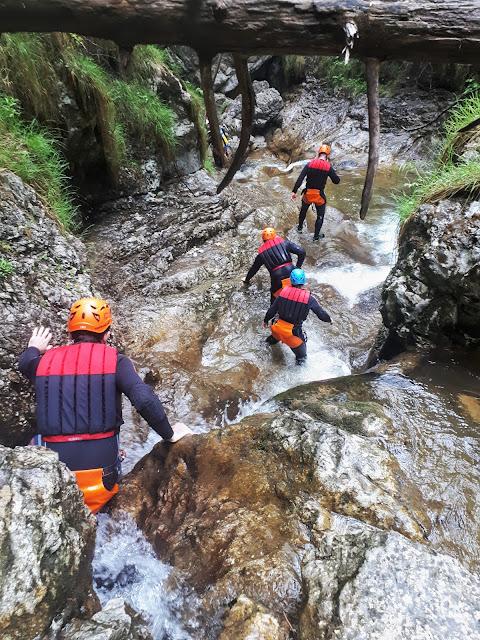 Canyoning rio Nero Valle di Ledro Valley Trentino