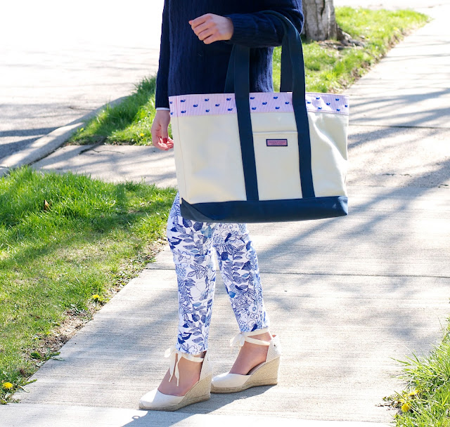 vineyard vines tote and soludos wedges