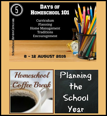 Homeschool 101 - Planning the School Year on Homeschool Coffee Break @ kympossibleblog.blogspot.com - Day 2 of the Homeschool 101 blog hop hosted by the Schoolhouse Review Crew focuses on planning. This is a quick description of how I plan out my school year, and the resources I use.