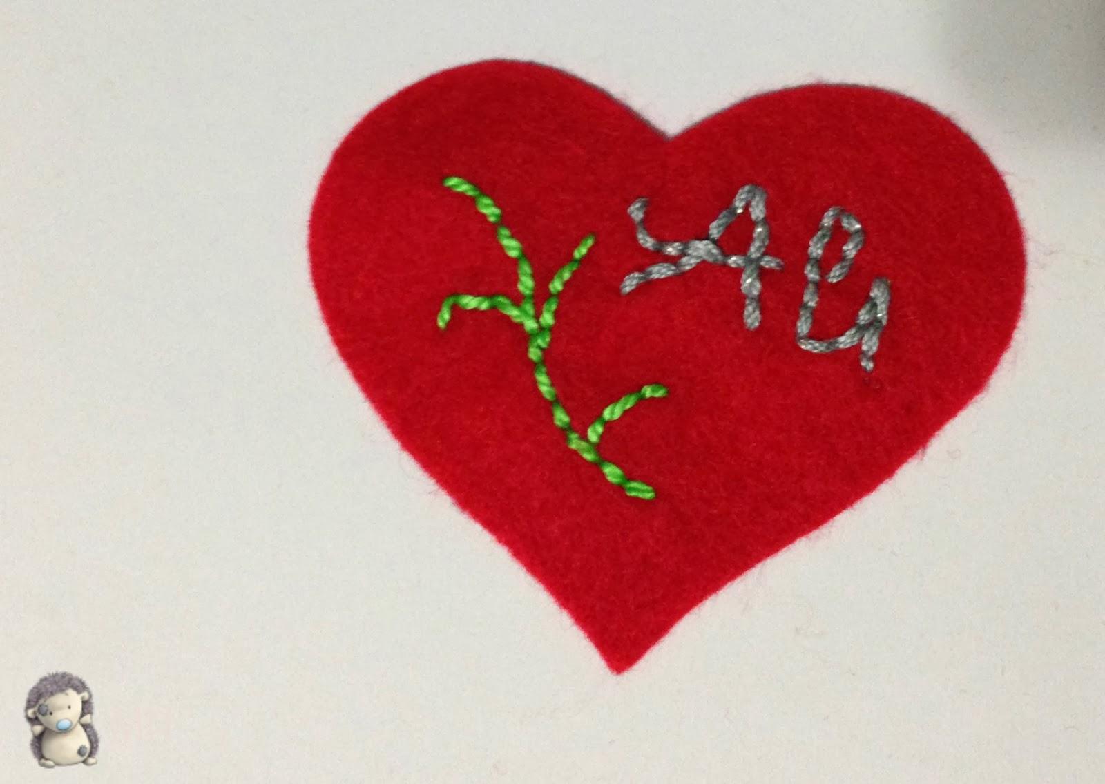 Llavero corazón en fieltro