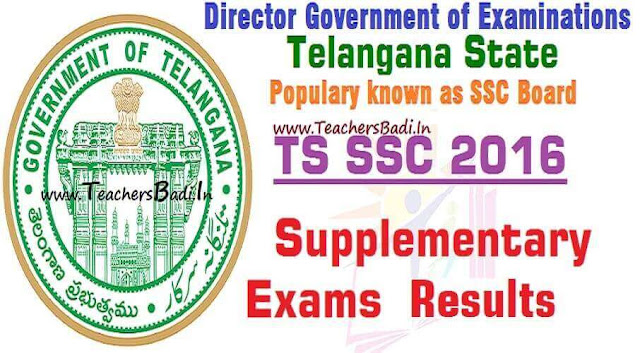 TS SSC,Supplementary Exams,Results