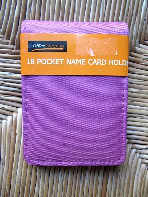 Sew Many Ways Tool Time Tuesday Business Card Organizer
