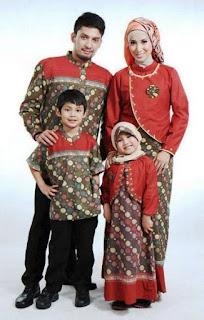 Model baju batik sarimbit muslim modern