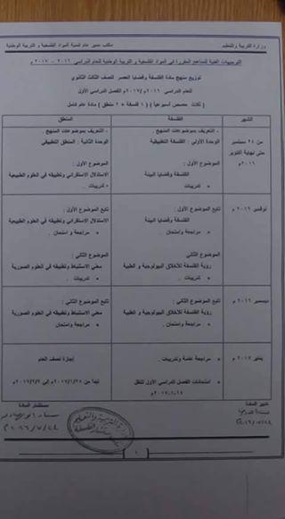 توزيع مناهج الفلسفة والمواطنة للثلاث صفوف المرحلة الثانوية ونموذج التحضير الرسمى من مكتب مستشار المواد الفلسفية والتربية الوطنية